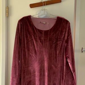 SOFT SURROUNDINGS SZ L ROSE PINK LONG SLEEVE TOP